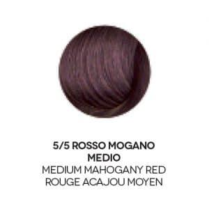 colore capelli rosso mogano medio